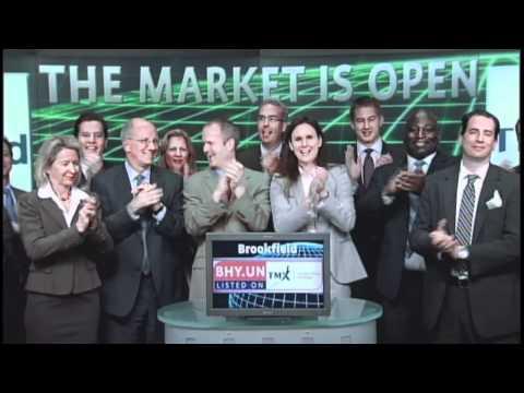 Brookfield Investment Management (BHY.UN:TSX) opens Toronto Stock Exchange, June 26, 2012.