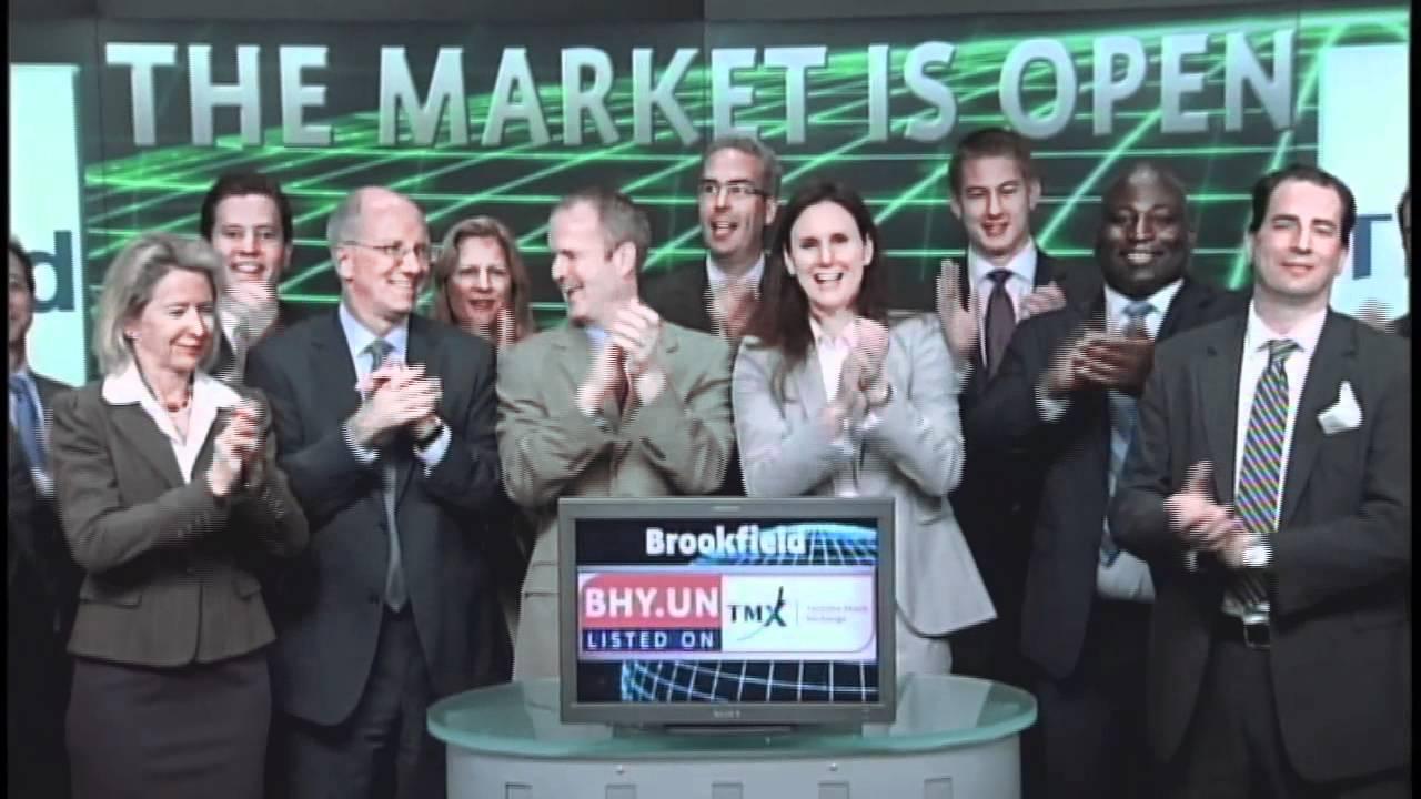 brookfield investment management Brookfield Investment Management (BHY.UN:TSX) opens Toronto Stock ...