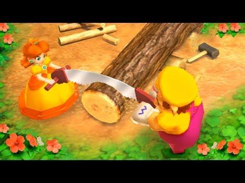 Mario Party: The Top 100 Minigames - Daisy Vs Wario Vs Luigi Vs Waluigi