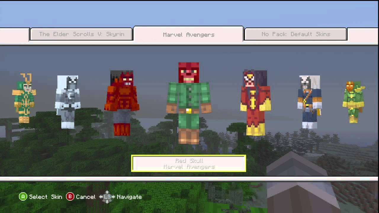 Minecraft Xbox 360 Marvel Avengers Skin Pack Overview - YouTube