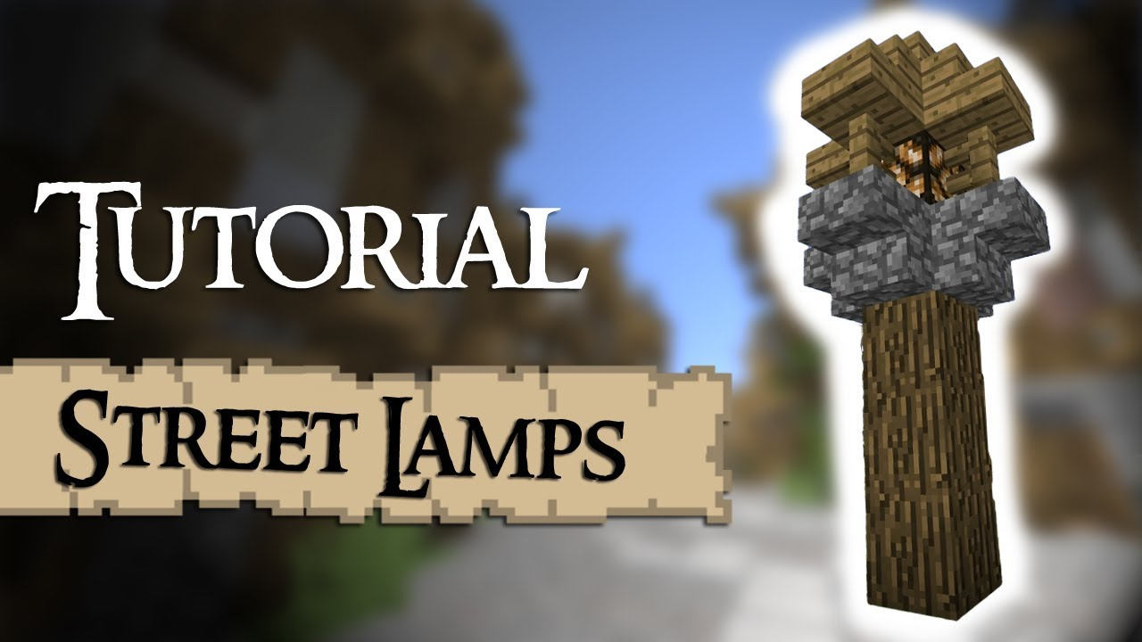 Minecraft Tutorial How To Build Street Lamps YouTube