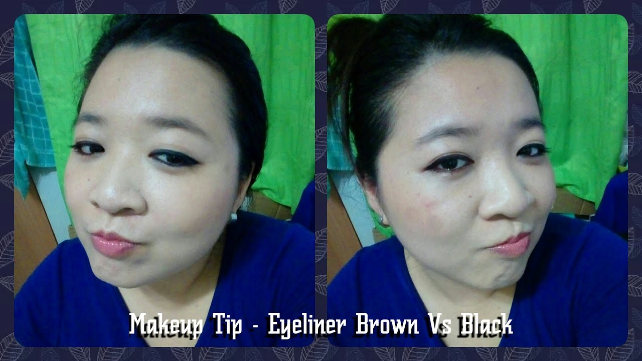 [Makeup Tip] 01 - Eyeliner Brown vs Black
