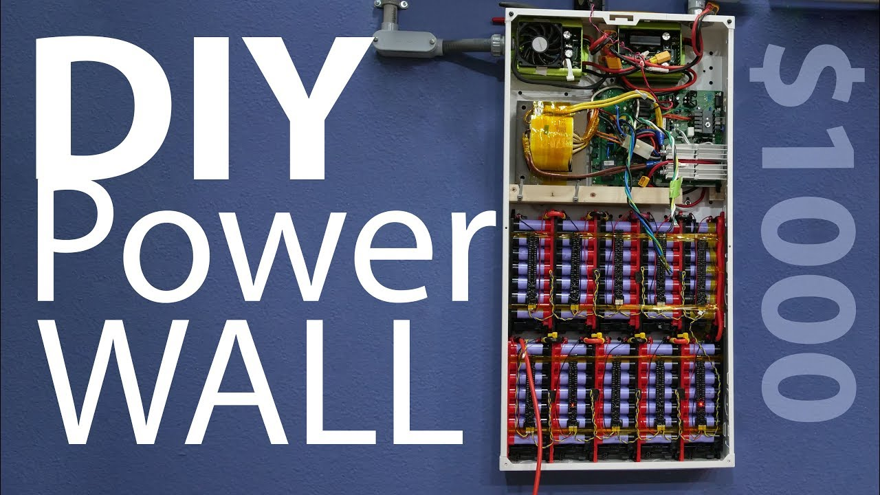 1kw DIY PowerWall affordable  18650 build project (2018)