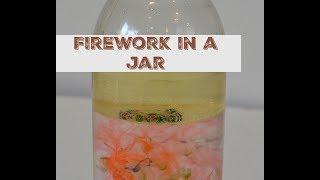 Firework in a glass