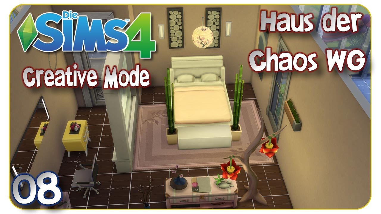 die sims 4 creative mode haus der chaos wg 08 ideen. Black Bedroom Furniture Sets. Home Design Ideas