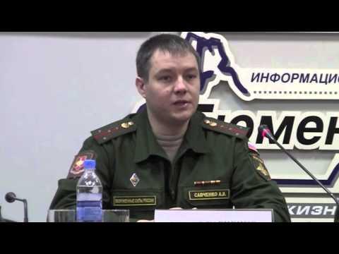 Пресс конференция начальника пункта отбора на военную службу по контракту майора Виталия Мудрука
