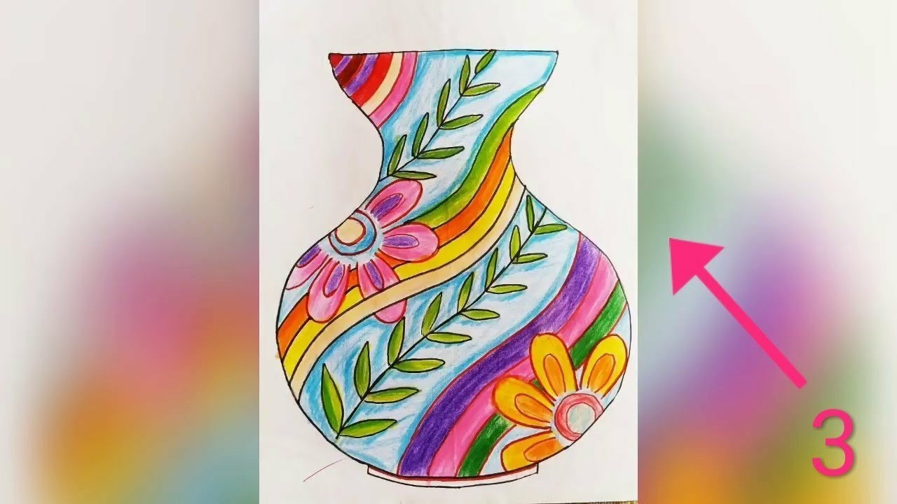 Flower Pot Sketch And Drawing S फ लद ण Elementary And