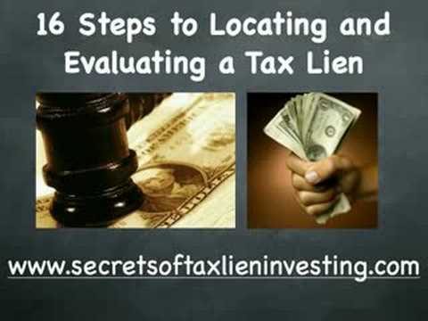 The easiest investment: Free 16 Step Tax Lien training ebook