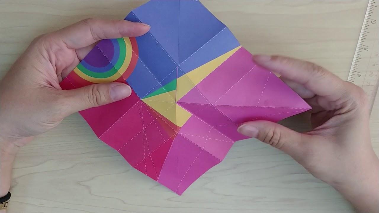origami kit rainbow cloud
