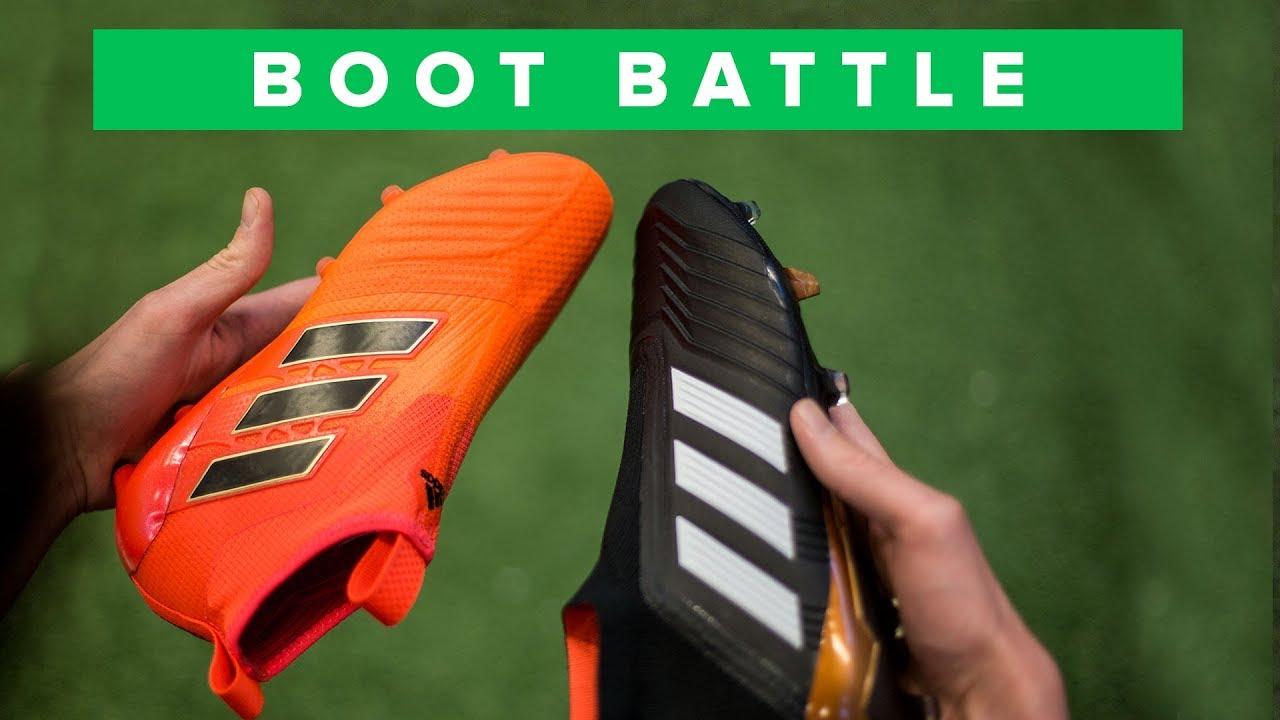 Facile succedere in lavorazione Esattamente  adidas Predator 18+ vs ACE 17+ | football boot control battle - YouTube