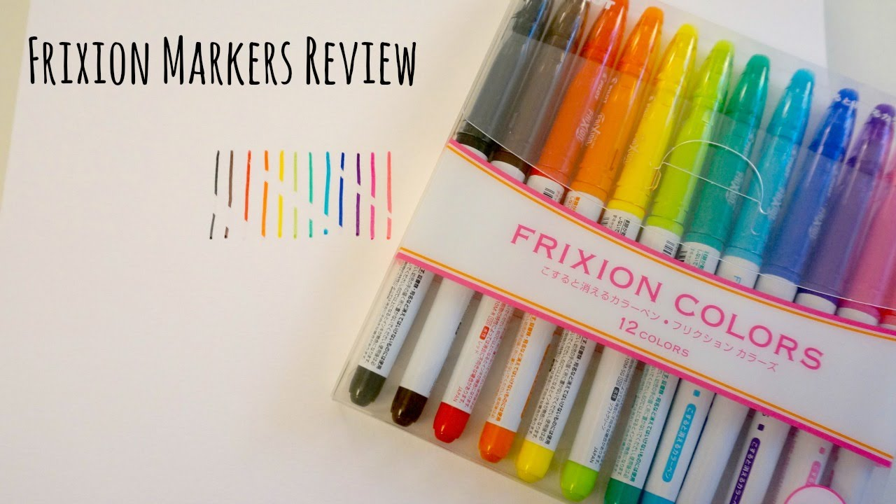 Pilot Frixion Markers Review Erasable Markers Youtube
