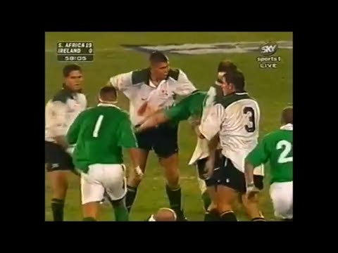 South Africa vs Ireland battle in Pretoria 1998
