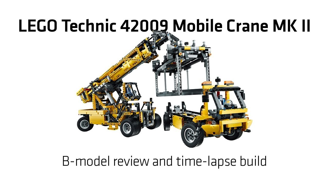 Lego Technic 42009 Mobile Crane Mk Ii B Model Build Review Youtube