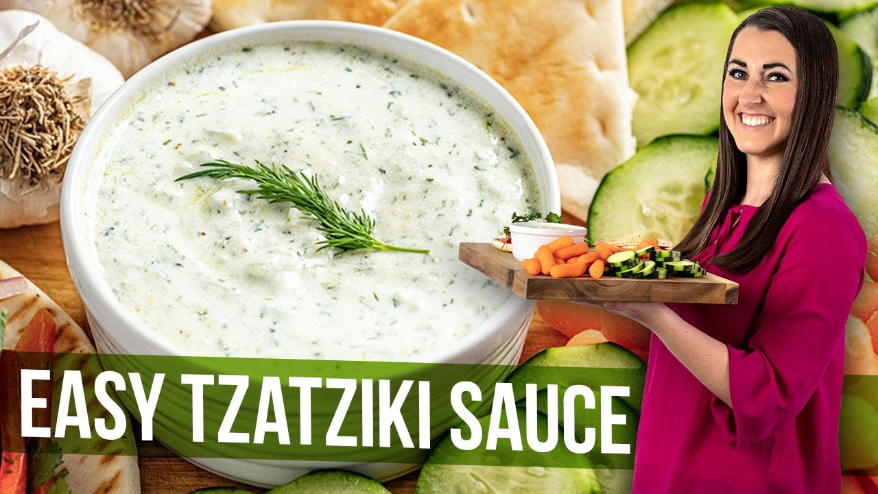 Easy Tzatziki Sauce Youtube