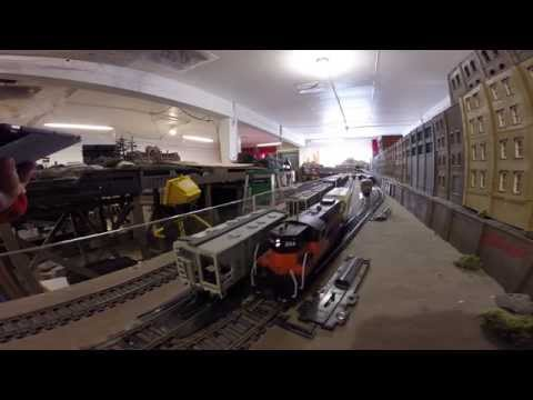 Gopro: Wisconsin Central cement train At AWOL