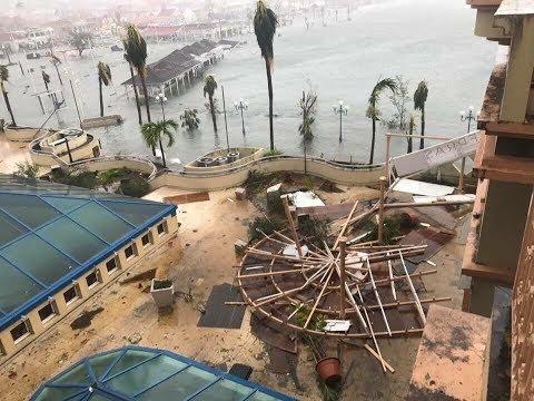 Orkan IRMA hasiendo desaster na St. Maarten