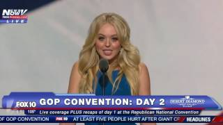 Donald Trump's Daughter Tiffany Trump Speaks At Convention - FNN