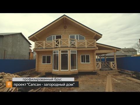 """Внутренняя отделка, проект """"Сапсан - загородный дом"""". Профилированный брус, Крым, Ти-Арт"""