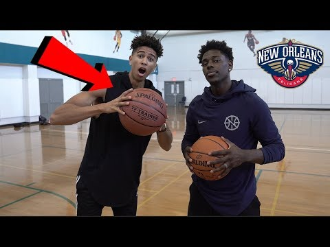 1v1 BASKETBALL vs. NBA ALL-STAR Jrue Holiday! Oversized Basketball Challenge