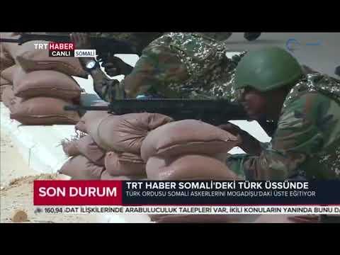 TRT HABER SOMALİDEKİ TÜRK ÜSSÜNDE - MPT 76 Piyade Tüfeği