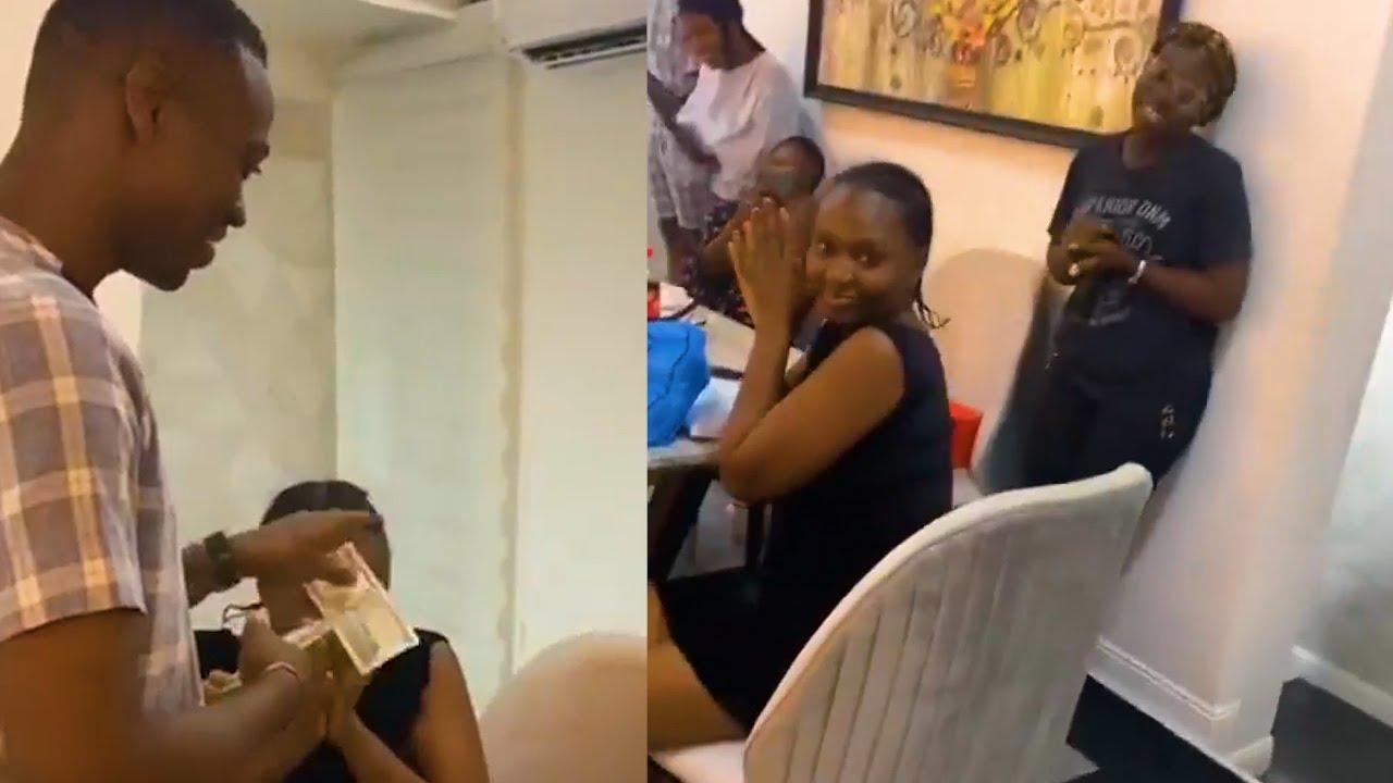 NOLLYWOOD ACTOR LATEEF ADEDIMEJI SURPRISES HIS WIFE BIMPE ADEDIMEJI FOR HER BIRTHDAY IN A LAVISH WAY