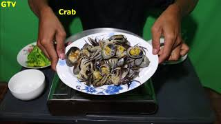 Crab Coconut milk fried , How to cook  , cooking and eating with me , Hindi cooking