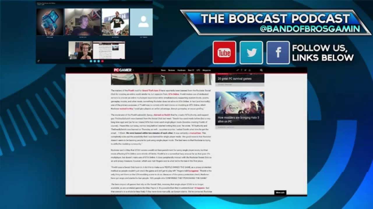 Bobcast Podcast 7 Gta V Fivem Banned Windows 10 Disable
