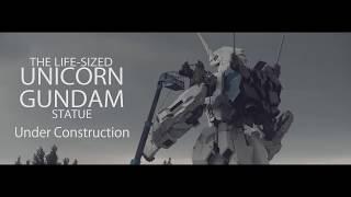 お台場で建造中の実物大ユニコーンガンダム立像です。 8/17に頭と胴体、...
