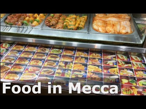 Food n View from our Hotel in Mecca, Saudi Arabia
