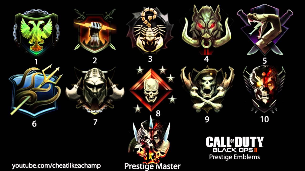 Black Ops 2 Prestige Emblems Hd 1 10 Prestige Master Youtube