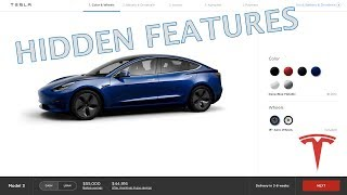 NEW TESLA MODEL 3 CONFIGURATOR AND HIDDEN SECRETS!!