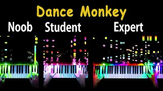 5 Levels of Dance Monkey: From Noob to Expert (Piano)