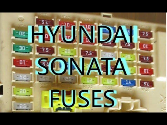 [WQZT_9871]  Fuses For ACC cigarette lighter Power outlet for Hyundai Sonata 2011 2012  2013 2014 - YouTube | 2015 Hyundai Sonata Fuse Diagram |  | YouTube