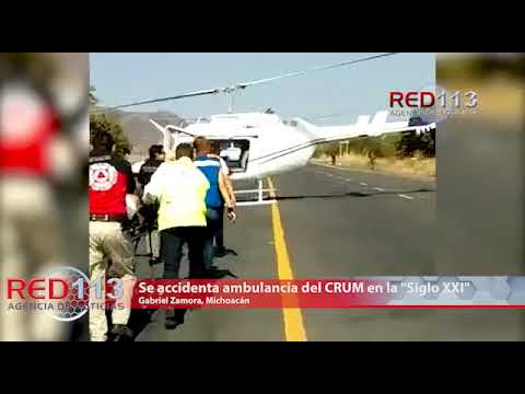 "VIDEO Se accidenta ambulancia del CRUM en la ""Siglo XXI"""