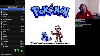 Pokemon Blue Glitchless TAS in 1:29:35 Console Verified with Commentary