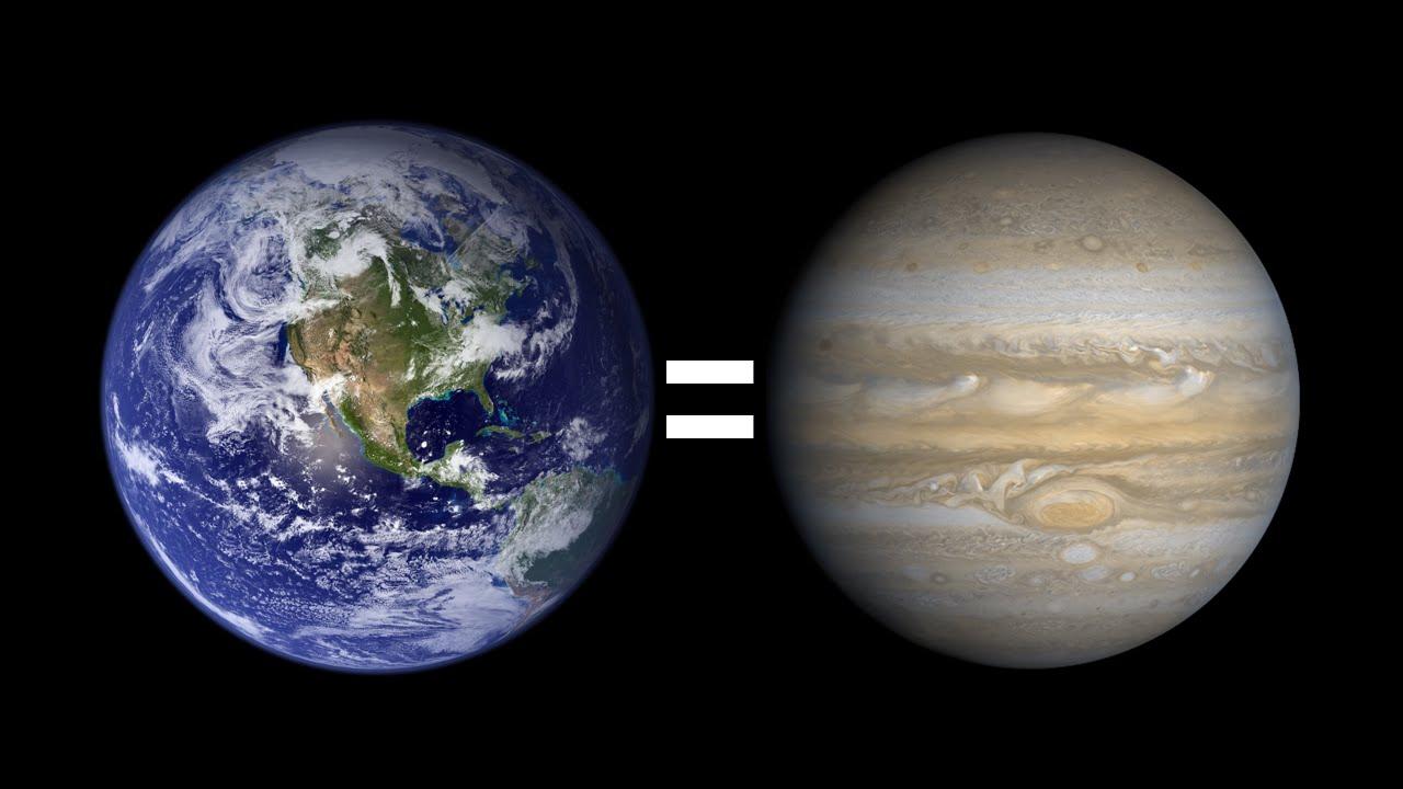 ¿Qué pasaría si la Tierra fuera del tamaño de Júpiter?