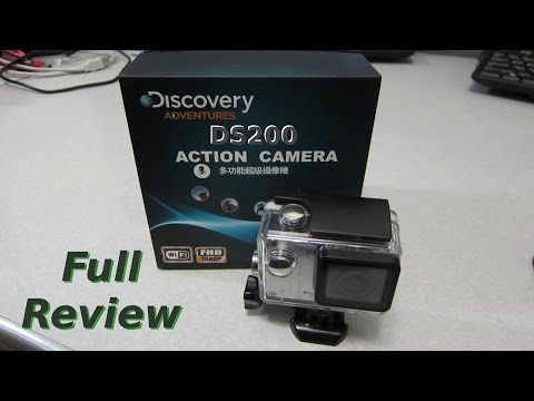 Discovery Adventures DS200 WiFi Action Camera Full Review with sample footage