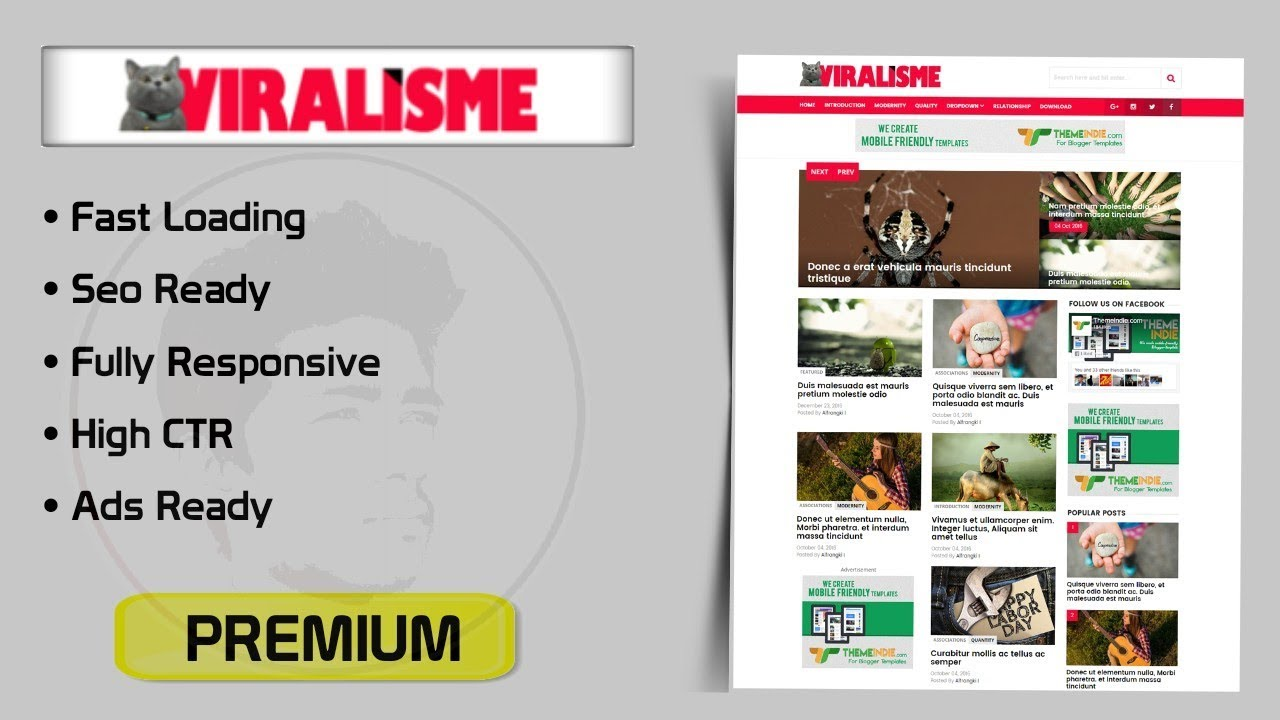 Viralisme Responsive Blogger Template For News Blog Premium Version