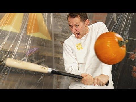 Baseball Bat Pumpkin Smash!
