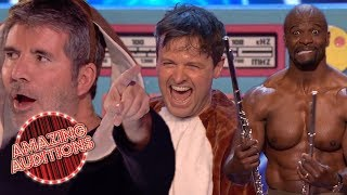 Hosts PERFORM On Got Talent And X Factor | Amazing Auditions