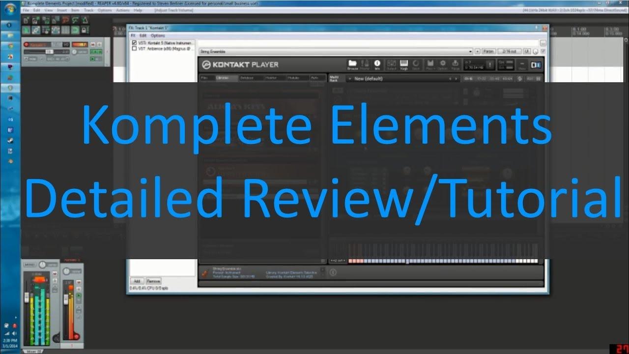 komplete elements detailed review tutorial part 1 kontakt selection youtube. Black Bedroom Furniture Sets. Home Design Ideas