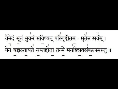 Shiva sankalpam Mahanyasam Chapter 6 with text