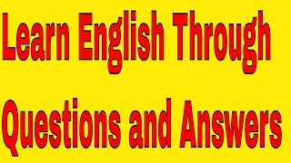 Learn English Through Questions and Answers Indian Accent Through Live Class !