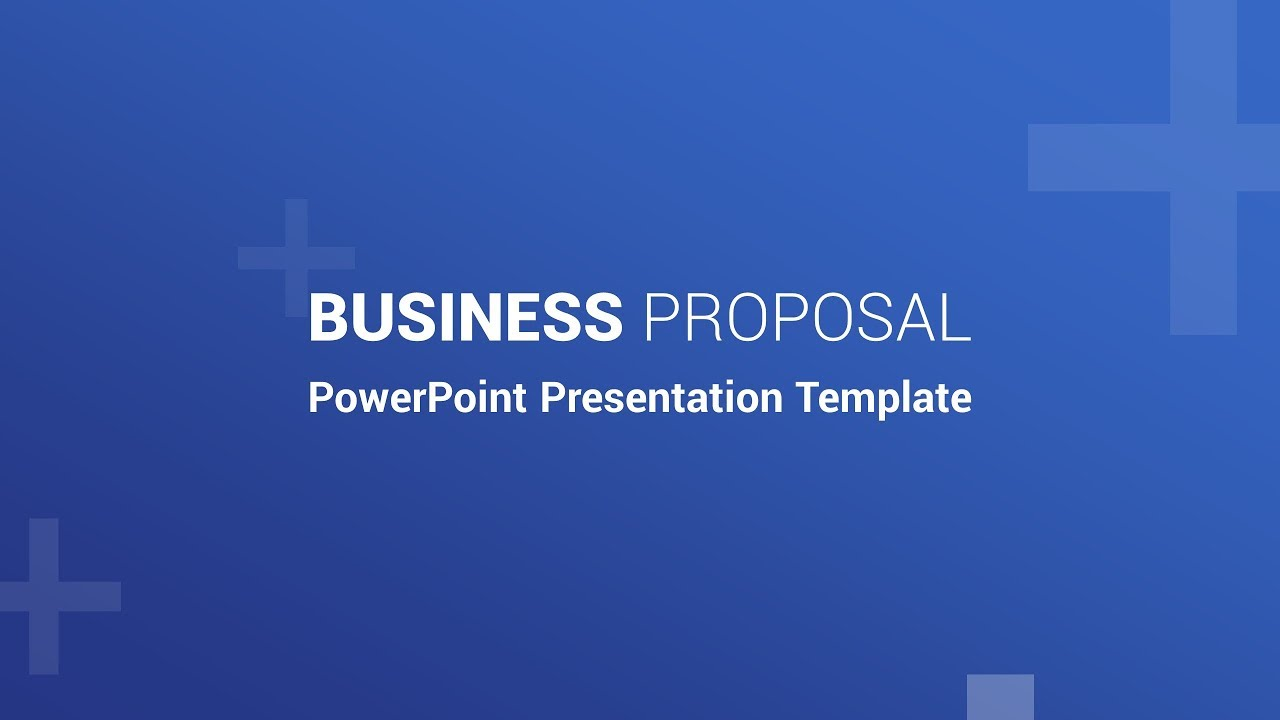 free business proposal powerpoint presentations youtube