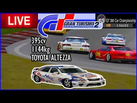 TOYOTA ALTEZZA no CAMPEONATO GT 300 - Gran Turismo 2 - AO VIVO thumbnail