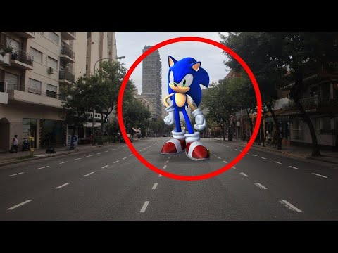 5 Sonic Caught On Camera In Real Life Camera In Real Life Youtube