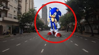 #5 sonic caught on camera in real life camera in real life