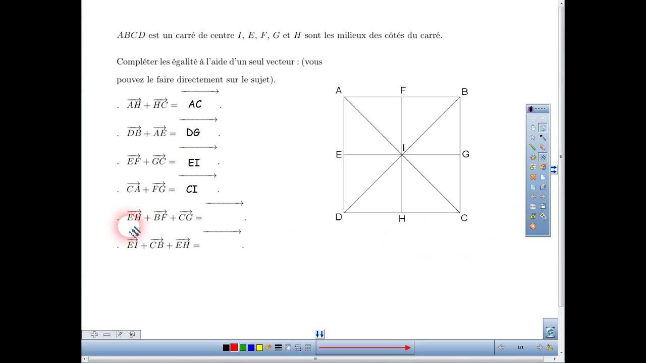 Correction exercice 2 DS Somme de vecteurs - YouTube