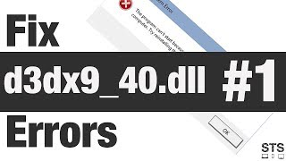 How to Fix d3dx9 40 dll Errors Method 1