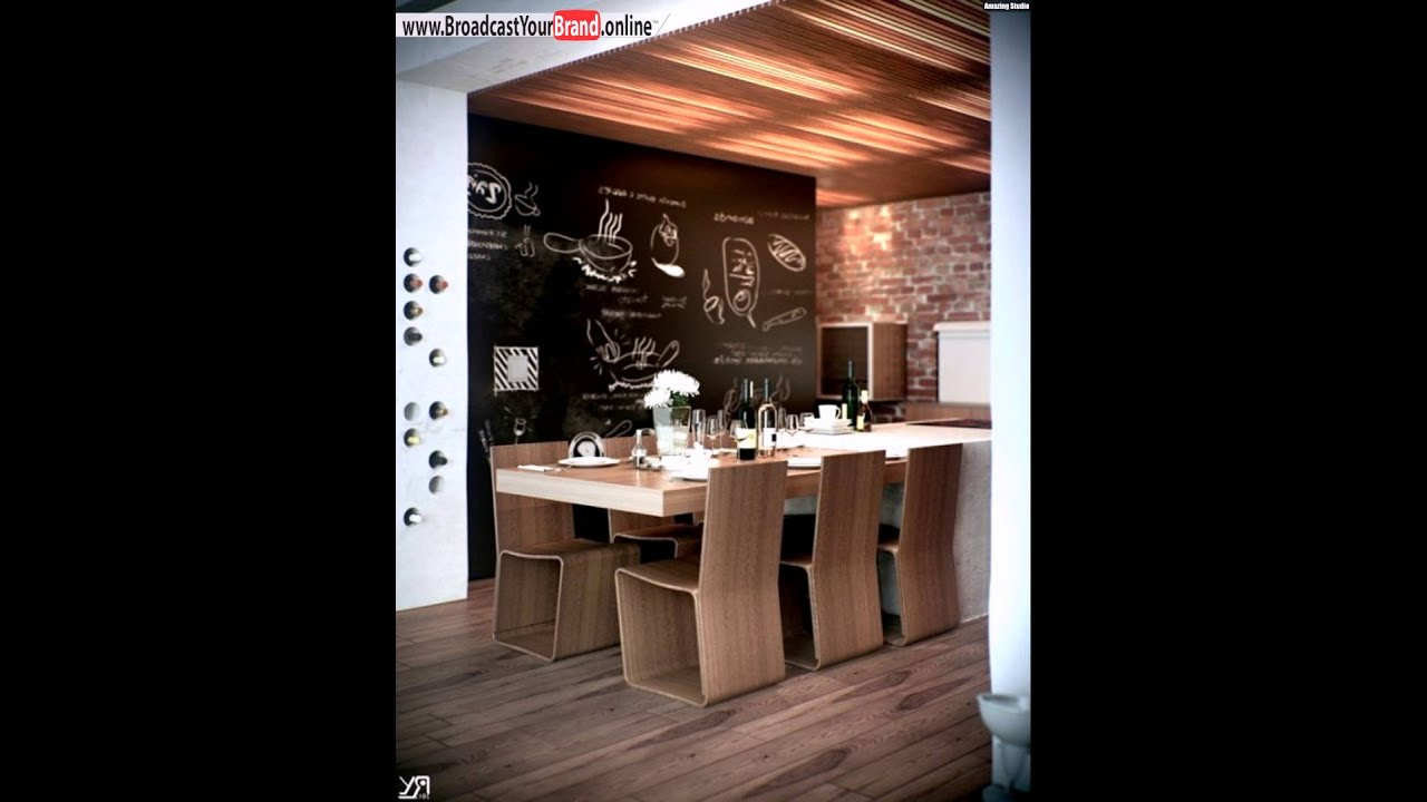 wandgestaltung k che tafelfarbe akzentwand holzm bel youtube. Black Bedroom Furniture Sets. Home Design Ideas